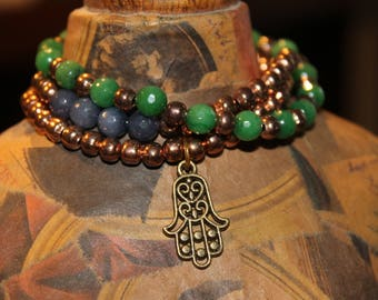 Tris of bracelets with natural cold stones