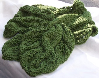 Scarf Knitting Pattern Twisted Vine
