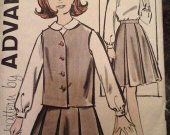 Advance 9911 pattern, girls skirt, blouse and jacket separates, size 8