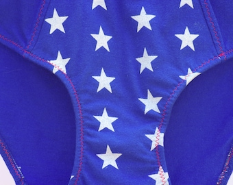 Starred Superhero Women's Underwear - Recycled Cotton - Women's 0 - Ready-to-Ship