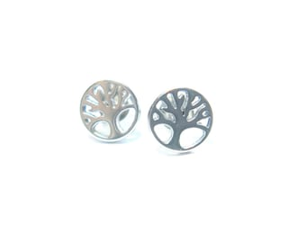 Stainless Steel Tree of Life - Studs