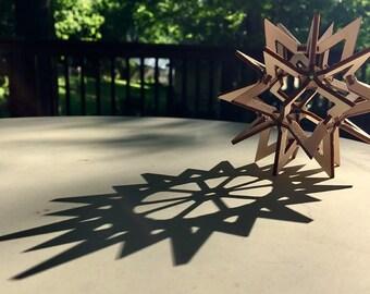Wooden Star Sphere kit