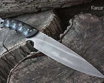 """Handcrafted FOF """"Rancor"""" Full Tang tactical and survival blade."""