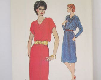 Vintage  Dress Paper Pattern uncut used Size 6-8-10 Vogue 8225
