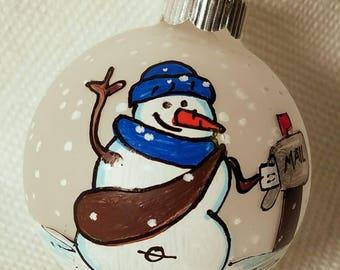 Mailman Ornament - Personalized Ornament -  Custom Ornament - Postal Carrier Ornament - Postal Worker Ornament - Snowman Ornament - Snowman