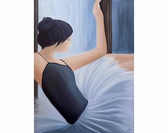 Ballerina Painting, 18 x 24, Oil Painting, Original Art, Ballet Painting, Dance Painting, Ballet Dancer Art, Woman Painting, Asian Art