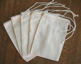 Muslin Bags 120  4x6 Cotton Bags Drawstring bags gift bags party bags favor bags Wholesale muslin bags cotton bags medium size muslin bags