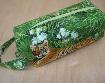 Elegant Tiger Pencil Bag Craft Bag Cosmetic Bag Makeup Bag Shaving Kit LARGE