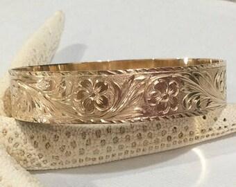 14k 15mm Hawaiian Heirloom bracelet