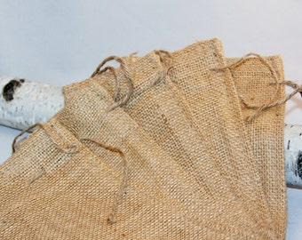 10 Burlap Bags 8x12 For Party Favors With Drawstring Jute Rustic Wedding Party Reception Supplies