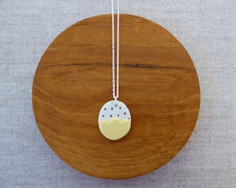 Small Gold Dot Egg Necklace
