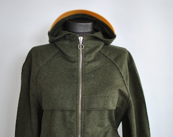 Vintage WOOL HOODED JACKET , women'a wool jacket ..........(265)