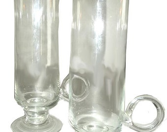 SALE...Hand Blown Glass Mugs