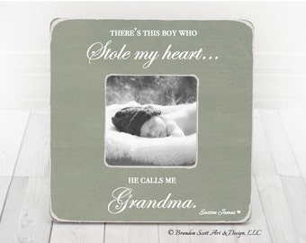 Mothers Day Gift for Grandma Nana Grandmother Gift Personalized Picture frame, Grandma Frame, Grandma Gift from Grandson, Theres this boy