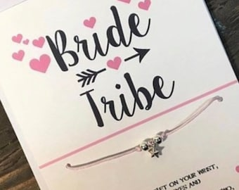 Bride tribe wish bracelet.Bridesmaid wish bracelet-Bachelorette wish bracelet-Bridesmaids bracelet-Bridal Shower favors