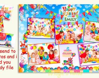 Happy Birthday Baby Photo Collage Photo EditingCollage Gift