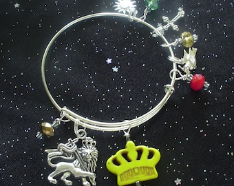 Lion of Judah Expandable and Stackable Bangle Charm Bracelet