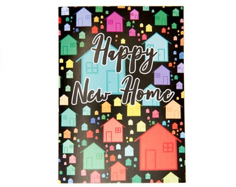 Happy New Home Card, Greeting Cards, Home Card, A6 Card, Occassion Cards, Cards, Paper Products, New Home