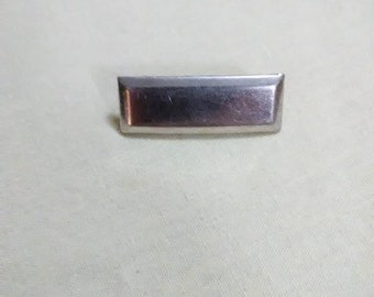 Vintage rectangular brooch