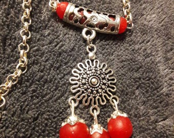 chain with red pendant