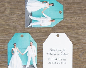 Photo Wedding Favor Tags (Large Ticket Tags)