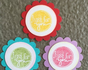 Just For You Scalloped Card Saying