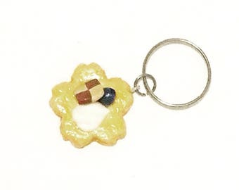 Assorted Topping Sakura Cookie Key Charm