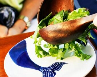 navy blue nautical ceramic dinner ware, small serving dish by jessica howard ceramics