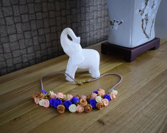 Handmade polymer clay necklace.