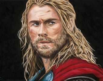 thor hammer painting etsy