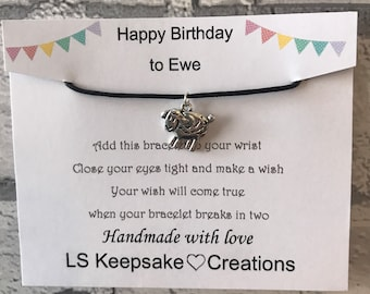 Wish Bracelet, thank you, thanks, thank Ewe, make a wish