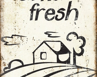 "Farm Fresh // Metal Sign // 12"" x 16"""