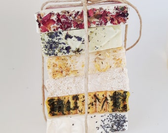 COMBO 6 mini soaps - Mini Soap - Guest Soap - Artisan soap - Soap Favor - Handmade Soap - Travel Soap - Multicolor