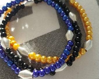 Barbados Flag Inspired Stretchy Bracelets
