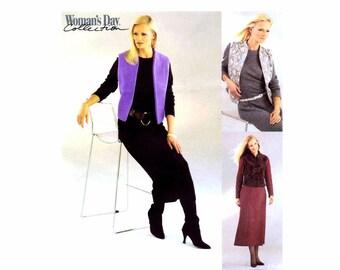 Misses Dress Lined Vest McCalls 3379 Sewing Pattern Size 8 - 10 - 12 - 14 Bust 31 1/2 - 32 1/2 - 34 - 36 UNCUT
