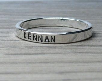 Personalized ring sterling silver name rings stackable name ring Custom name ring mothers ring baby name ring date ring