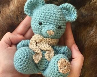 Original and unique teddy bear Amigurumi to crochet handmade. Amigurumi Doll. Perfect gift for a baby shower