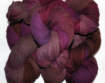 Hand dyed yarn - Columbia Wool yarn, Worsted weight, 170 yards - Frygga