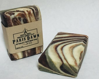 Paris Dawn: All Natural Goat's Milk Chocolate Mint Soap