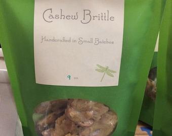 Cashew Brittle Sweet Salty Crunchy