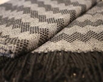 Peruvian Alpaca Blanket- Totally Coal
