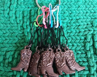 Cowboy Boot Stitch markers