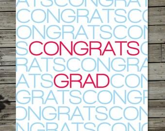 Simple Congrats Grad Card