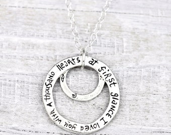 First Glance Necklace - Romantic Necklace -Inspirational Jewelry - N477