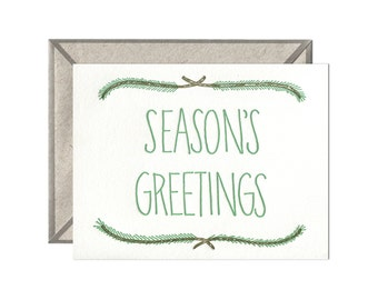 Seasons Greetings letterpress card