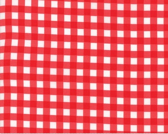 Bonnie and Camille  Vintage Holiday Red Plaid  Christmas fabric Moda