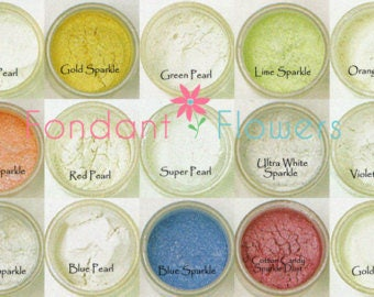 Sparkle Dust, Pearl Dust Food Coloring for dusting Gum paste and Fondant