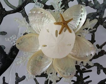 Snowflake Shell Christmas Ornament