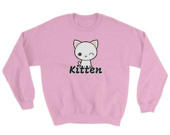 Kitten Sweatshirt Multiple Colors Available DDLG, ABDL, Little, Adult Baby, Kawaii, CGL