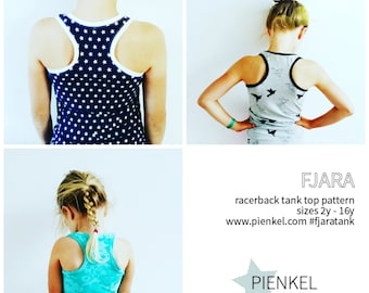 BUNDLE: FJARA Racerback Tank Top Pattern Girls & Women